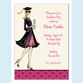 Gorgeous Grad Invitation - Blonde - click to enlarge
