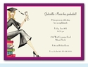 Grad on Books Invitation - Blonde