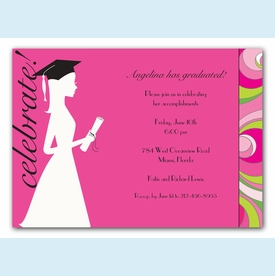 Graduation Silhouette Invitation - click to enlarge