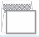 Gray Border Small Flat Cards w/Coordinating Liner