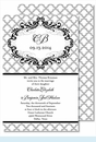 Gray Scallop Large Flat Invitation