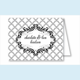 Gray Scallop Note Cards - click to enlarge