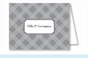 Gray/White Weave Note Cards