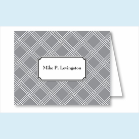 Gray/White Weave Note Cards - click to enlarge