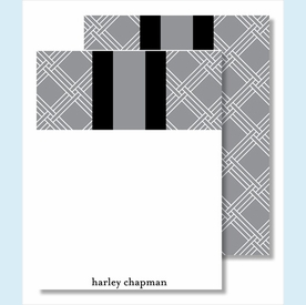 Gray/White Weave w/Black/Gray Stripe Small Flat Cards - click to enlarge