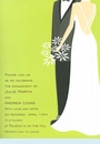 Green Bride & Groom Invitation