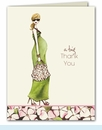 Green Mom Thank You Notes - Blonde