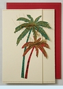 Green & Red Palm Trees Invitation