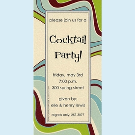 Groovy Waves Invitation - click to enlarge