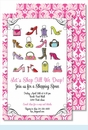 Handbags & High Heels Large Flat Invitation