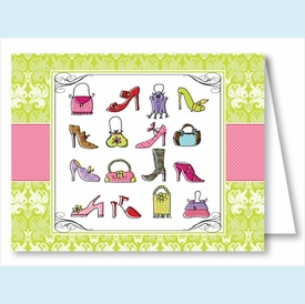 Handbags & High Heels Note Cards - click to enlarge