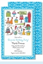 Happy Birthday Boy Large Flat Invitation