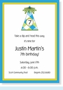 Happy Blue Birthday Hat Invitation
