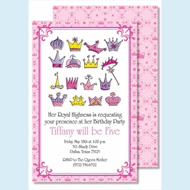 Her Royal Highness Large Flat Invitation - click to enlarge