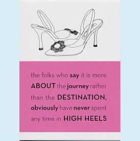 High Heel Journey Birthday Card - click to enlarge