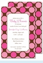 Hot Pink/Chocolate Polka Dots Large Flat Invitation