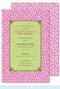 Hot Pink Floral Batik w/Lime Flood Large Flat Invitation