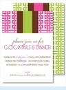 Hot Pink Gazebo w/Chocolate/Lime Stripe Medium Flat Cards