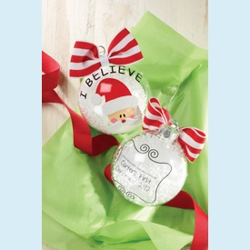 I Believe Personalizable Glass Ornament - click to enlarge