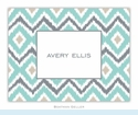 Ikat Soft Teal Folded Notes (set/25)