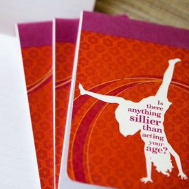 """""""Is there anything sillier than acting your age?"""" Anywhere Notebook - click to enlarge"""