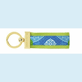 Isabelle Blue Circles Key Fob - click to enlarge