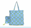 Isabelle Blue Circles Wrap Tote
