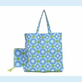 Isabelle Blue Circles Wrap Tote - click to enlarge