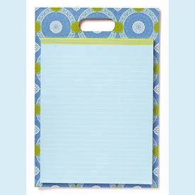 Isabelle Blue Portable Pad Clipboard - click to enlarge