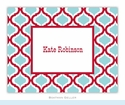 Kate Red & Teal Folded Notes (set/25)