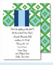 Kelly/Light Blue Fancy Diamond & Stripe Small Flat Cards