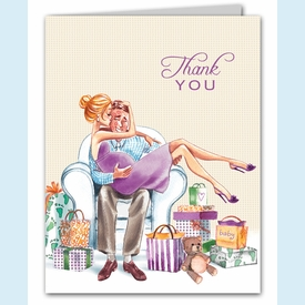 Kisses for Baby Neutral Thank You Notes (Blonde) - click to enlarge