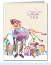 Kisses for Baby Neutral Thank You Notes (Brunette)