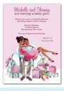 Kisses for Baby Pink Invitation (Multicultural)