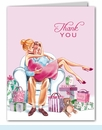 Kisses for Baby Pink Thank You Notes (Blonde)