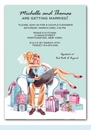Kissing Couple Invitation (Blonde)