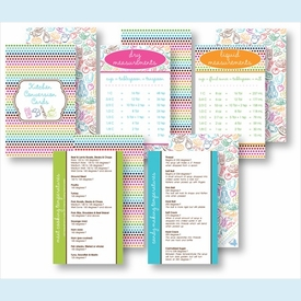 Kitchen Conversion Cards - Preppy Epicure Collection - click to enlarge