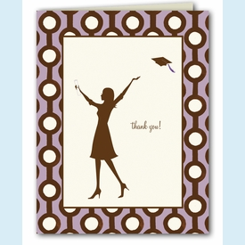 Lavender Grad Thank You Notes - click to enlarge