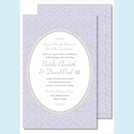 Lavender Ornate Floral Large Flat Invitation - click to enlarge