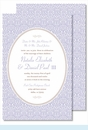 Lavender Ornate Floral Large Flat Invitation