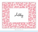 Leopard Pink Folded Notes (set/25)
