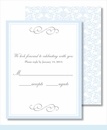 Light Blue Elegant Border Small Flat Cards