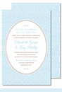 Light Blue Ornate Floral Large Flat Invitation