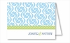 Light Blue Petal Vine w/Lime Rope Note Cards
