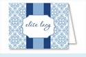 Light Blue Quilt w/Navy/Light Blue Stripe Note Cards
