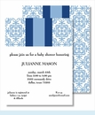Light Blue Quilt w/ Navy/Light Blue Stripe Small Flat Cards