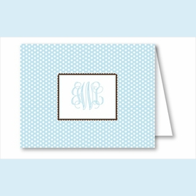 Light Blue Swiss Dot Note Cards - click to enlarge
