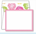 Light Pink Border Small Flat Cards w/Coordinating Liner