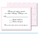 Light Pink Elegant Border Small Flat Cards