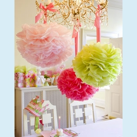 Lilly Pulitzer Party Pom Poms - click to enlarge